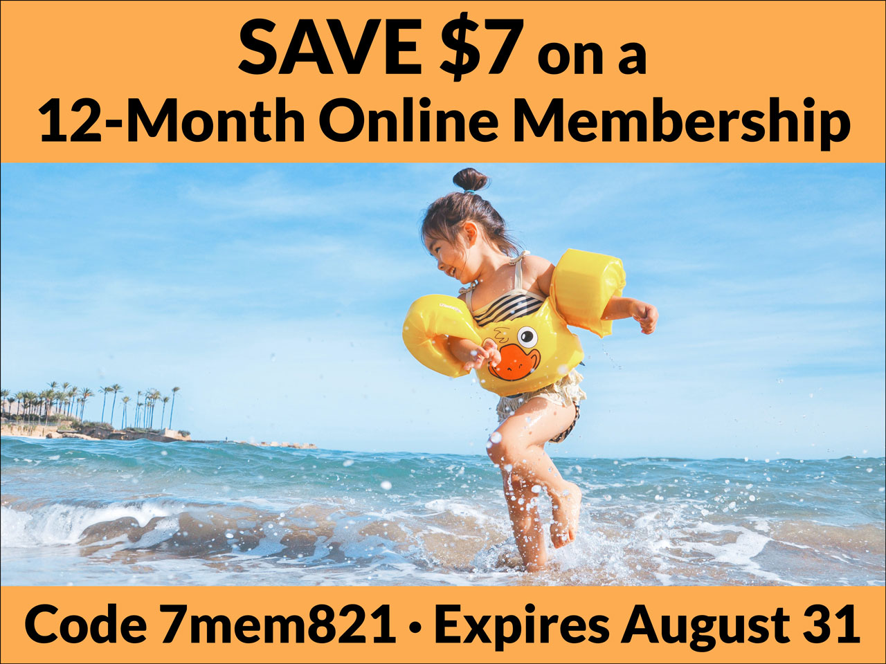 Save $7 on a 12 month online membership