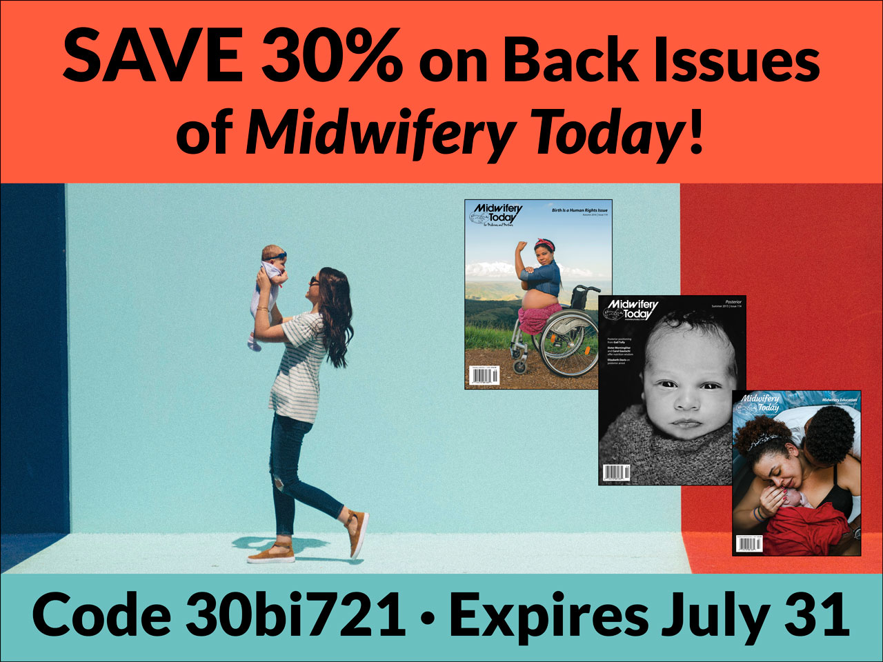Save 30% on Midwifery Today back issues