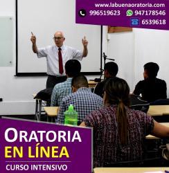 Curso virtual de Oratoria (Lun. y Mier. 4 pm a 5:30 pm.) Inicio Lunes 11 Enero