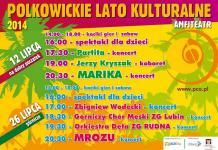 Plakat: Polkowickie Lato Kulturalne 2014
