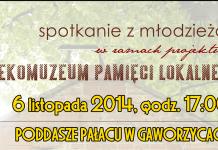 2014-11-04 plakat: spotkanie z młodzieżą