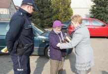 2015-02-23-akcja policji-odblaski@gmina wiejska Głogów