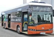 2017-07-27 Polkowice: Testują elektryczny autobus Solaris (fot UG Polkowice)