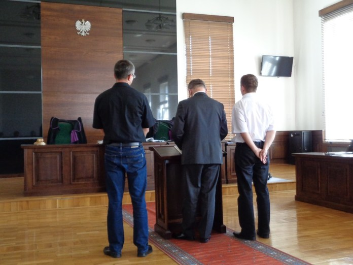 2015-08-05 Proces snajpera.Biegli nie mają wątpliwości @Sąd Rejonowy w Głogowie (fot. A. Błaszczyk)