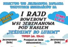 2015-08-06 I Rajd Rowerowy Wsi Jerzmanowa (plakat UG Jerzmanowa)