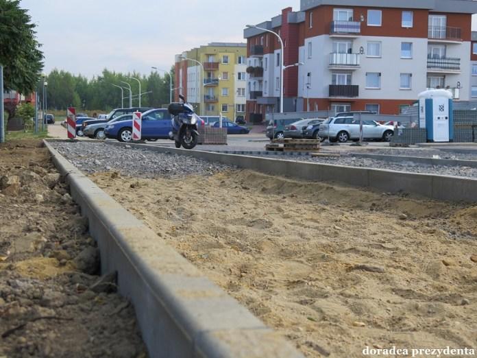 2015-09-05 Nowe drogi i miejsca parkingowe na osiedlu Piastów Śląskich II @osiedle Piastów Śląskich II (fot. UM Głogów)