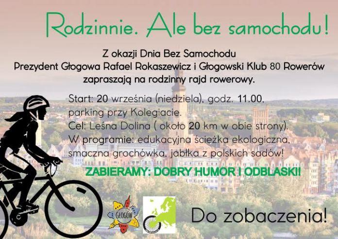 2015-09-19 Dzień bez Samochodu W niedzielę rajd rowerowy, a we wtorek bezpłatna komunikacja miejska (plakat)