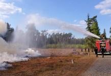 2015-09-26 Strażacy ćwiczyli w lasach obok Głogówka (fot. A. Starczewski)