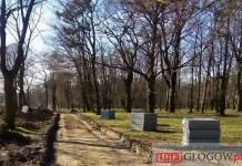 2016.04.01. Głogów, Park Południowy, nowa ścieżka rowerowa, budowa