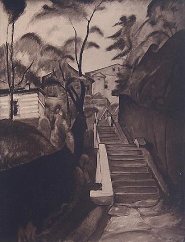 Schody klasztorne w Sanoku.Leon Getz