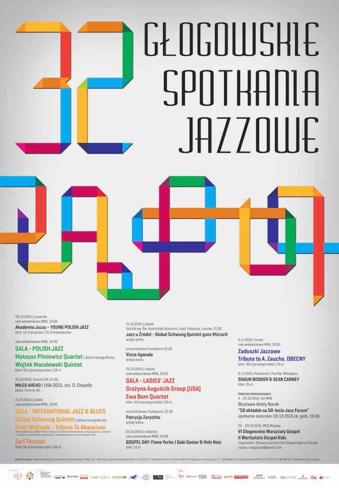 Miedziak.info.pl 32 Głogowskie Spotkania Jazzowe 2016 GSJ plakat