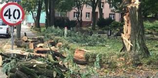Orkan Ksawery w Głogowie