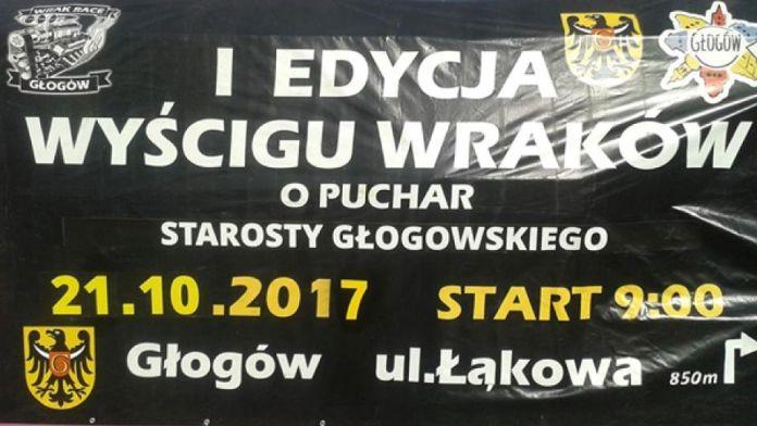 TutajGLOGOW.pl Wrak Race Głogów 2017 I edycja Wyścigu Wraków o puchar Starosty Głogowskiego