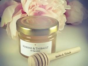 mini pot de miel, mini pot de miel mariage