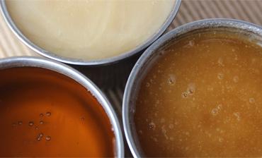 Diferentes texturas de la miel
