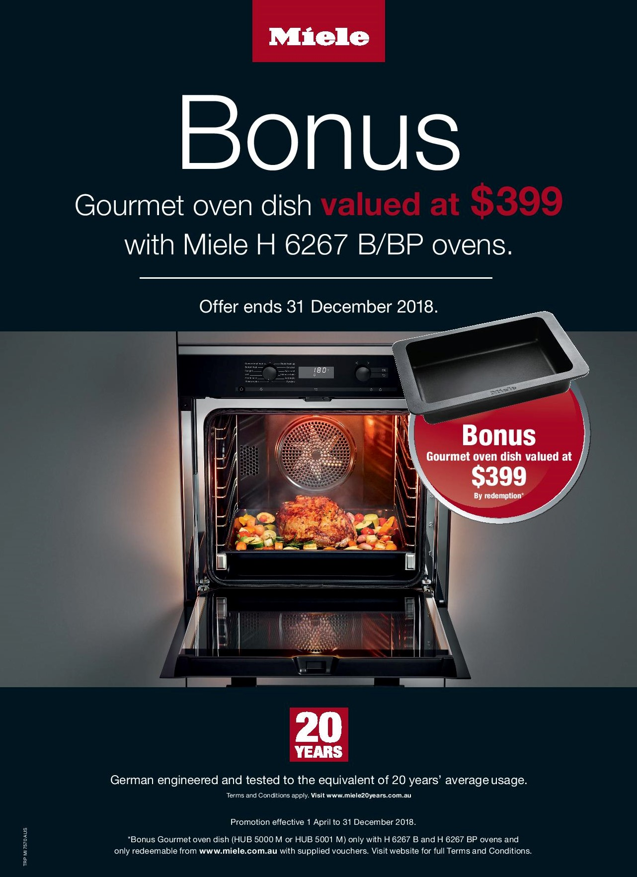 Gourmet Oven Dish Promotion