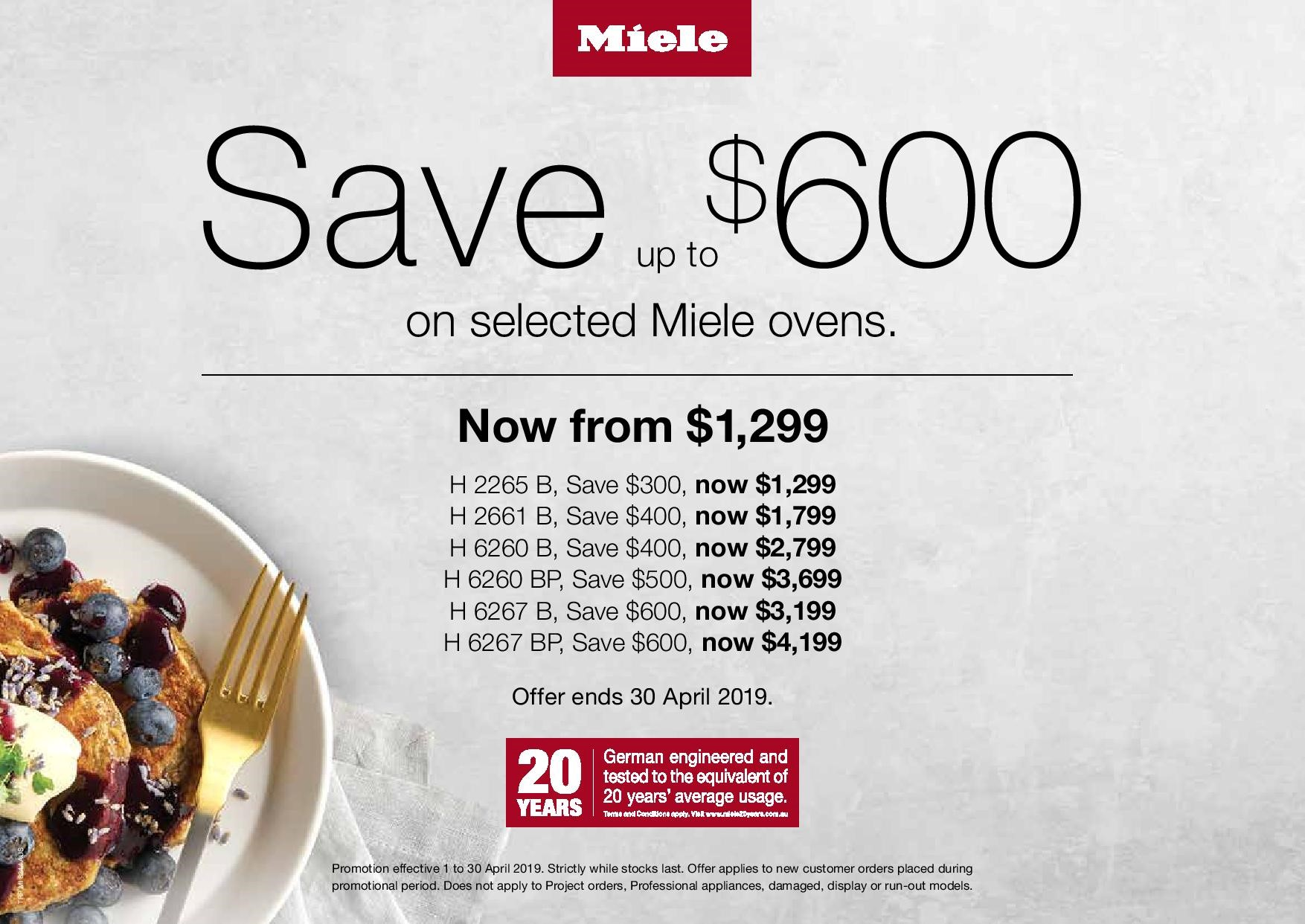 Miele Oven Promotion