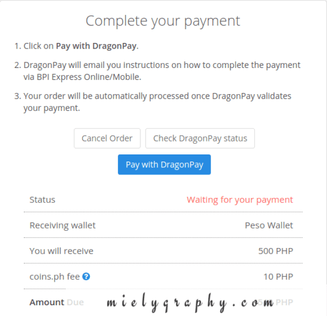 CrypTalk Philippines: Complete your payment for coins.ph using dragonpay