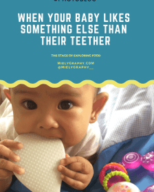 When your baby likes something else than their teether.
