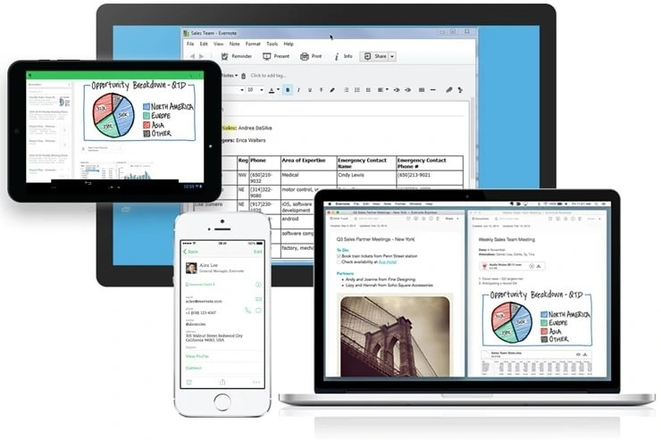 evernote across all devices