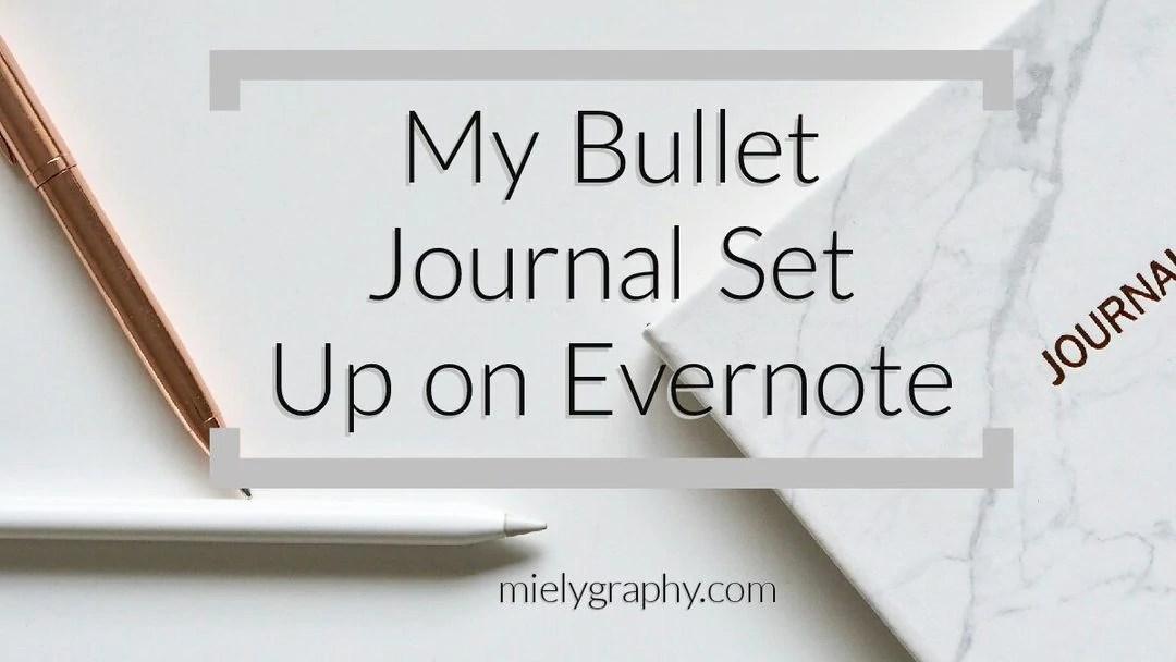 Digital Bullet Journal Template for Evernote