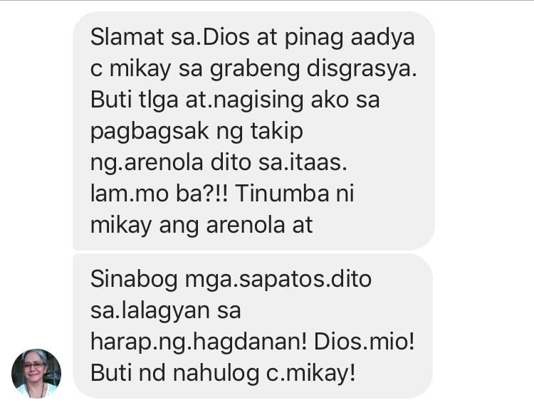 mom's message