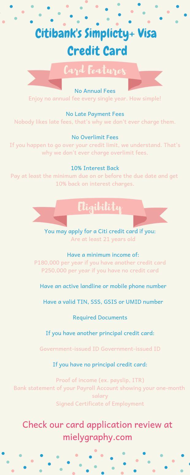 Citibank Simplicity+ Visa Credit Card Features and Eligibility