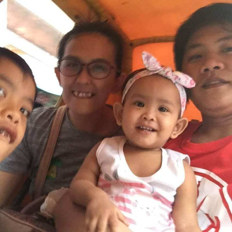 my family in a pedicab