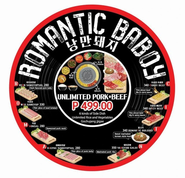Romantic Baboy Bacoor Menu and Price   Mielygraphy
