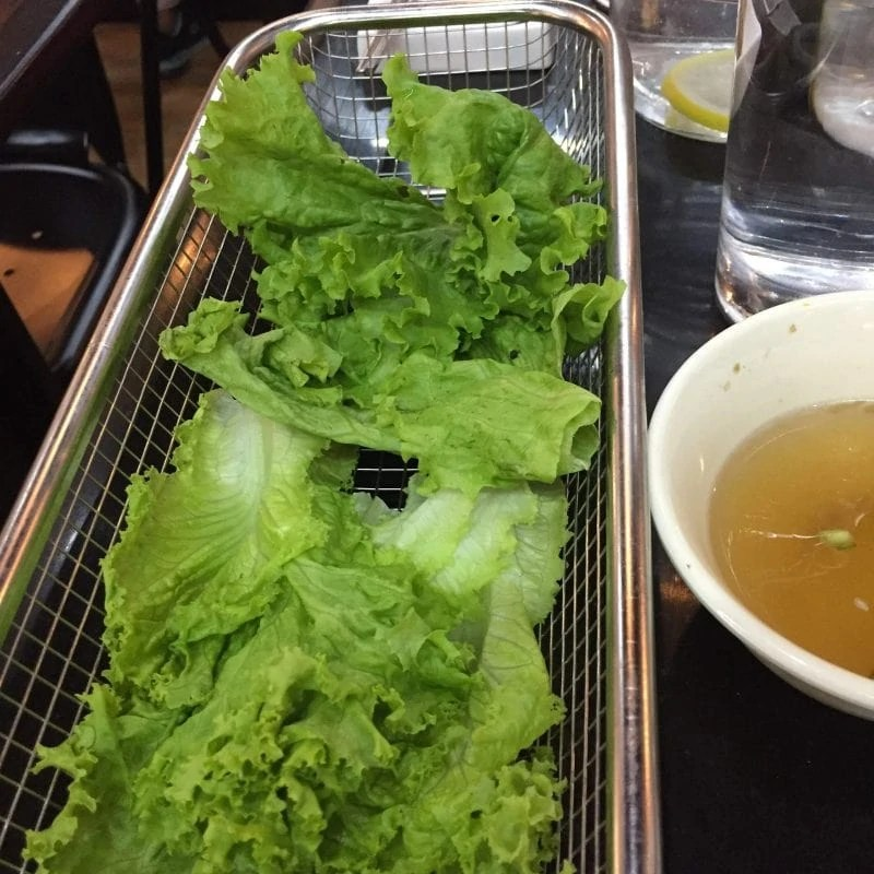 lettuce for samgyeopsal samgyeopmasarap unlimited korean bbq bacoor