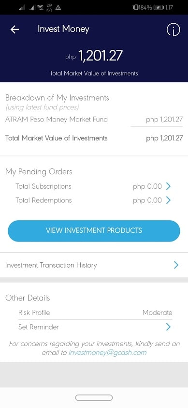 My Current Investments ( total 1200 and 1.27 income as of June 17 2019)