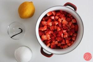 Confitura de fresa preparación