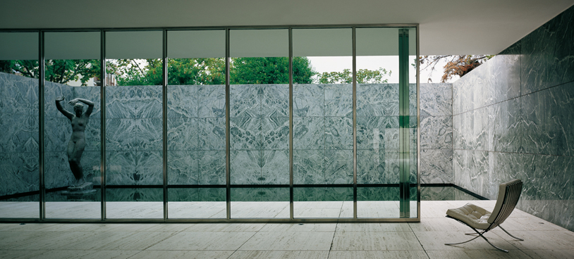 the barcelona pavilion was designed by ludwig mies van der rohe as the. Black Bedroom Furniture Sets. Home Design Ideas