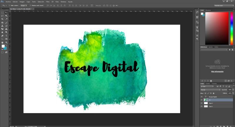 Como hacer efecto de acuarela para textos con Photoshop