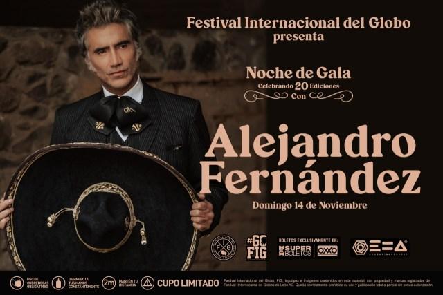 Alejandro Fernández le cantará las mañanitas al FIG