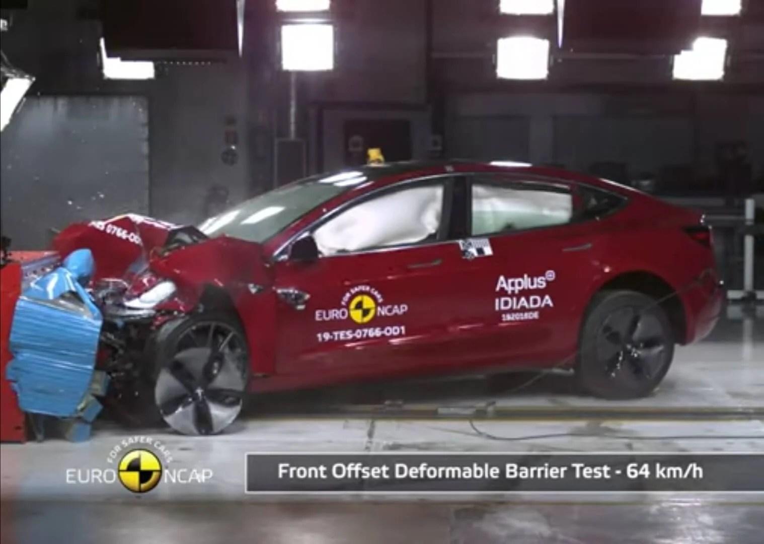 Model 3 crashtest NCAP