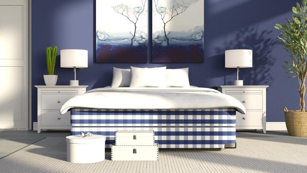 Plaid im Wohn- und Schlafzimmern ist Trend