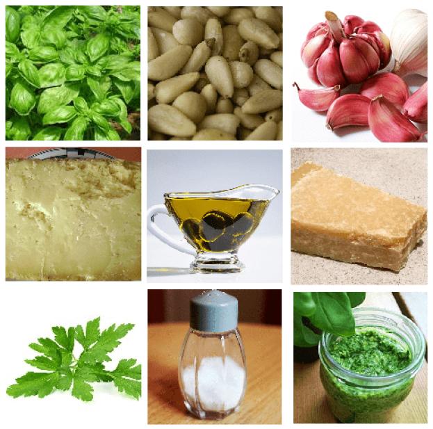 Ingredientes presentes en el pesto