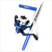 mini canne à pêche stylo pêcheur cadeau moulinet set spinning stylo pen