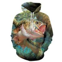 sweatshirt avec un poisson pour pêcheur du dimanche
