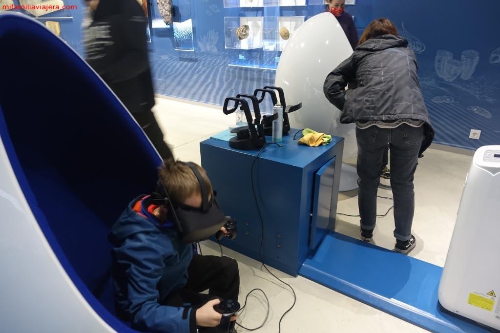 El simulador de la Ruta de las Huellas Fósiles de Monsagro es la actividad más divertida