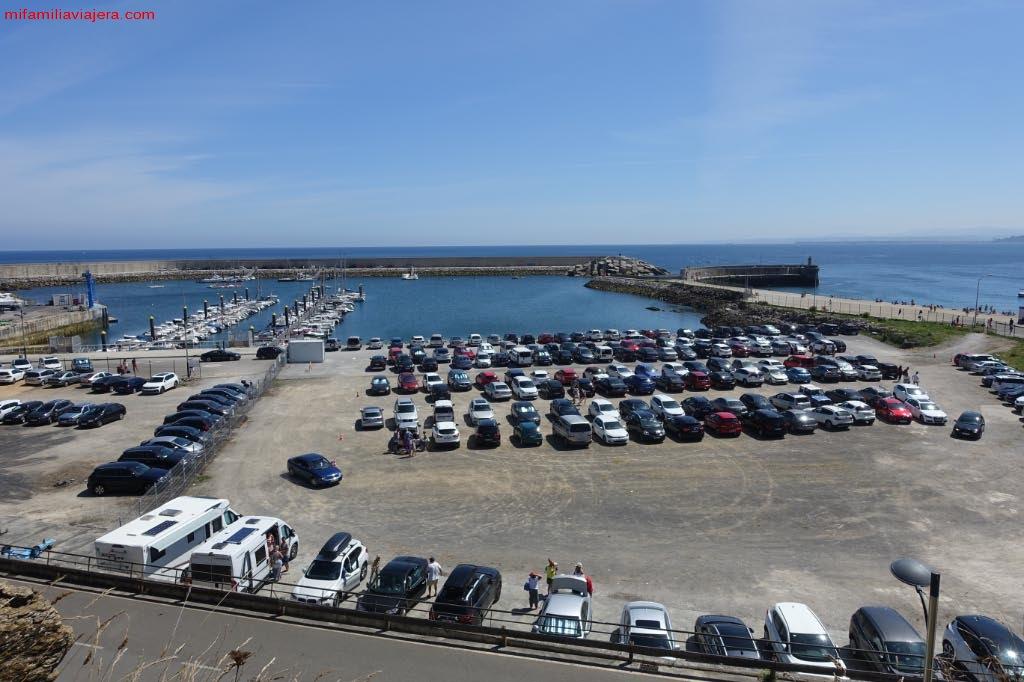 Parking público del puerto deportivo de Luanco