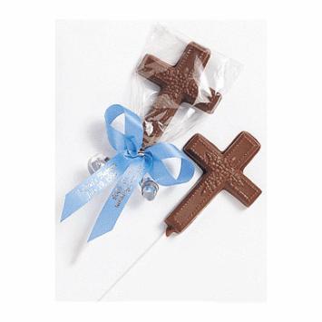 Chocolate Communion Favors Cross Pop