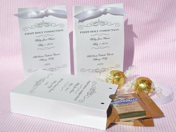 First Communion Party Favors - Holy Communion Decorations - First Communion abbeyandizziedesigns (etsy)