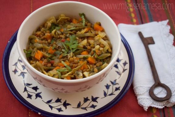 Lentejas curry 2