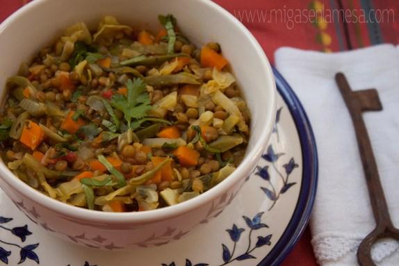 Lentejas curry 3