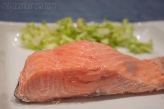 Salmon te verde 2