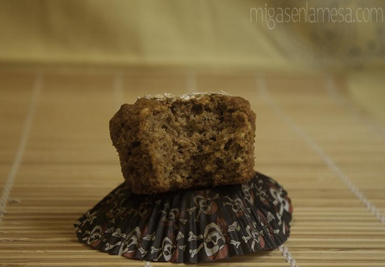 Muffins integrales avena 5