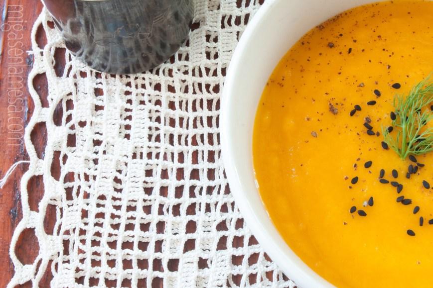 Crema hinojo zanahoria 5