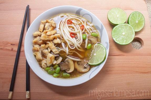 Sopa picante pollo noodles 1